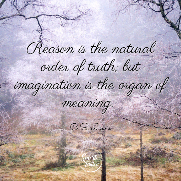 Reason is the natural order of truth but imagination is the organ of meaning c.s. lewis
