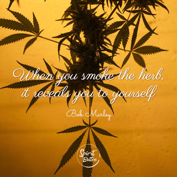 When you smoke the herb it reveals you to yourself bob marley