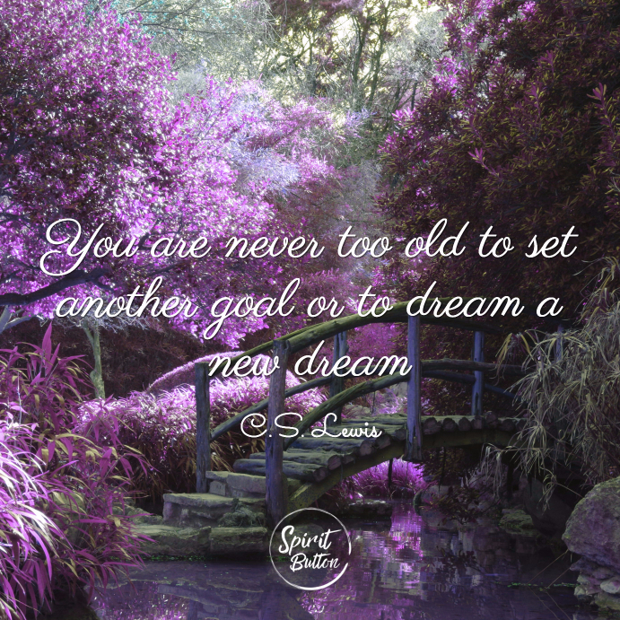 You are never too old to set another goal or to dream a new dream c s lewis