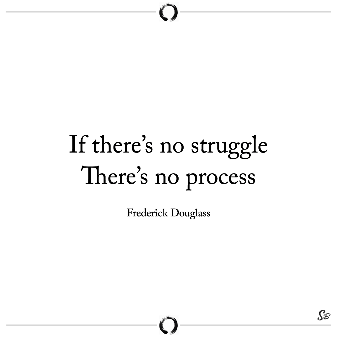 If there's no struggle there's no process frederick douglass