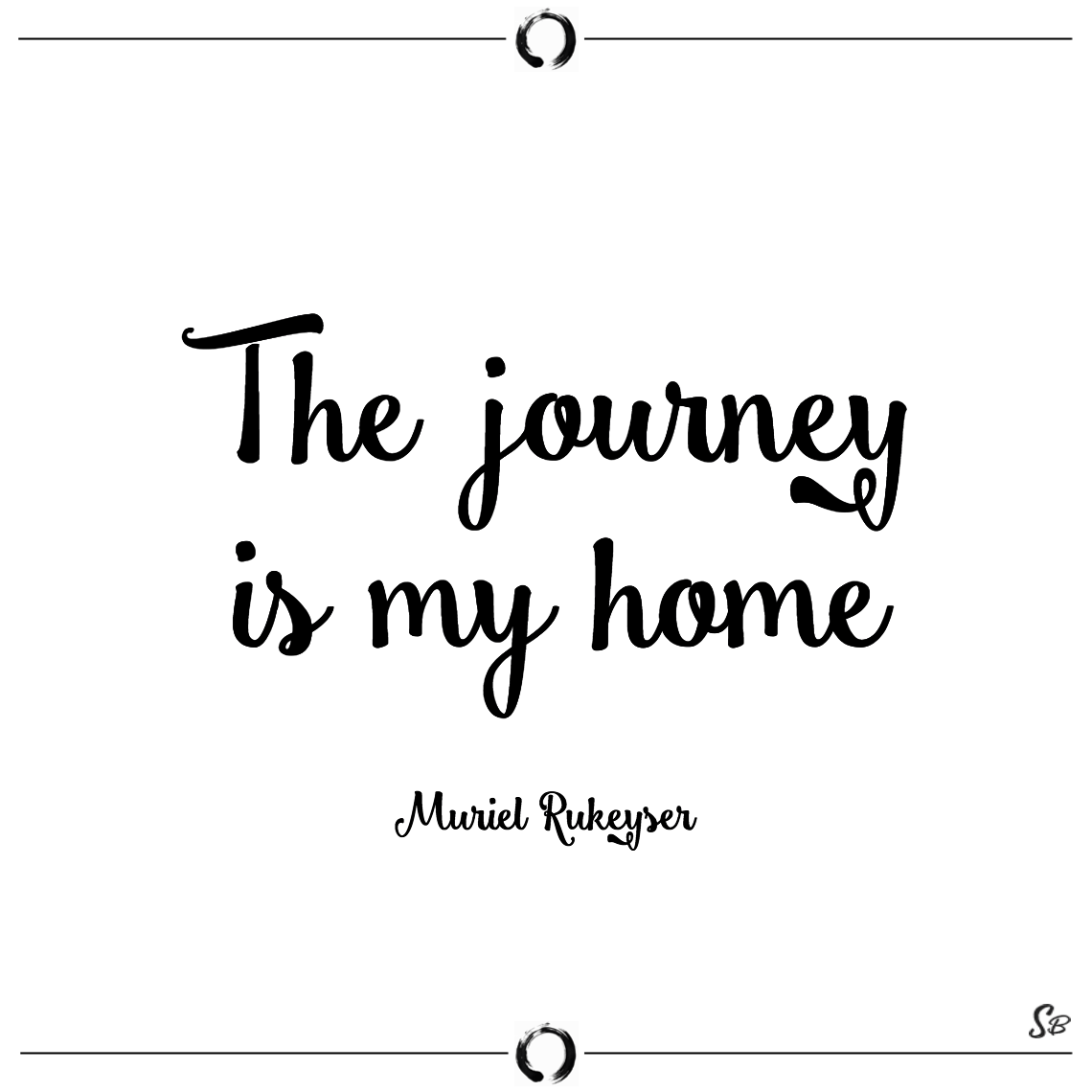 The journey is my home muriel rukeyser