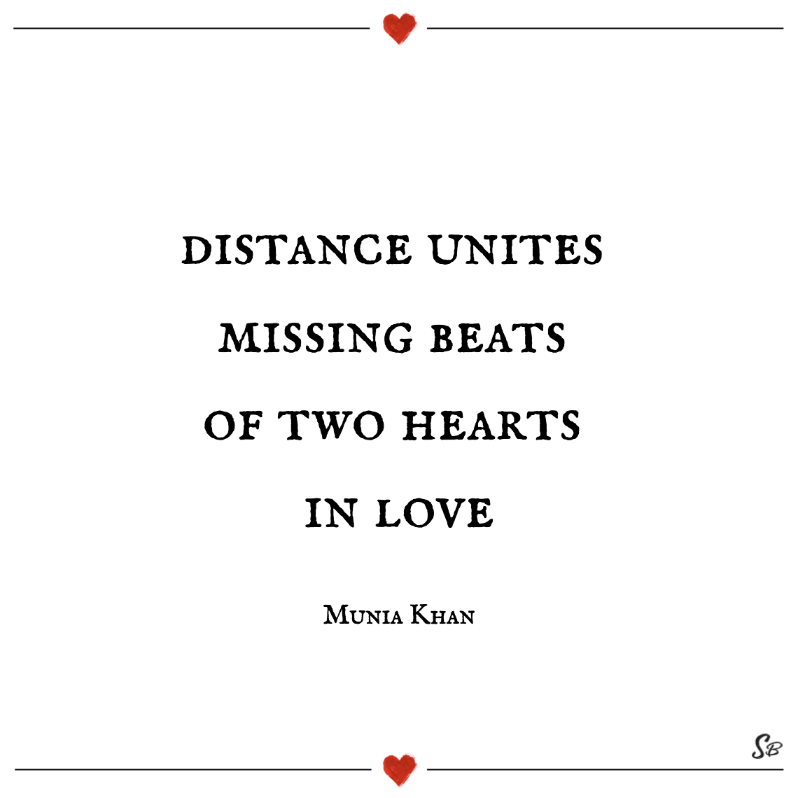 Distance unites missing beats of two hearts in love munia khan