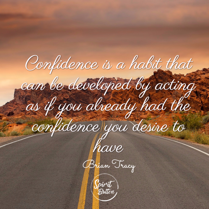 Confidence is a habit that can be developed by acting as if you already had the confidence you desire to have. brian tracy