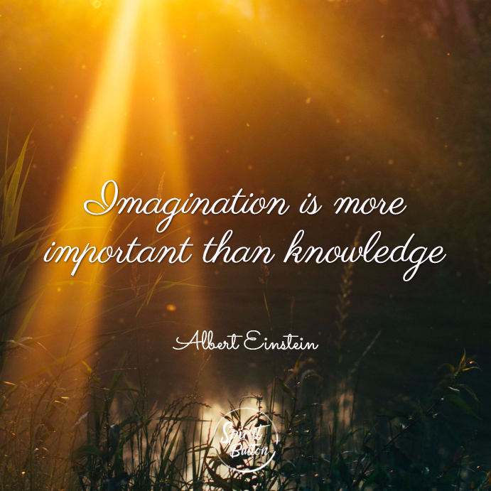 Imagination Is More Important Than Knowledge. Albert Einstein