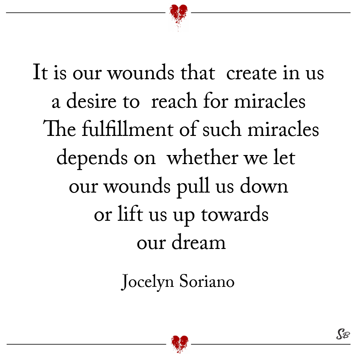 Our wounds