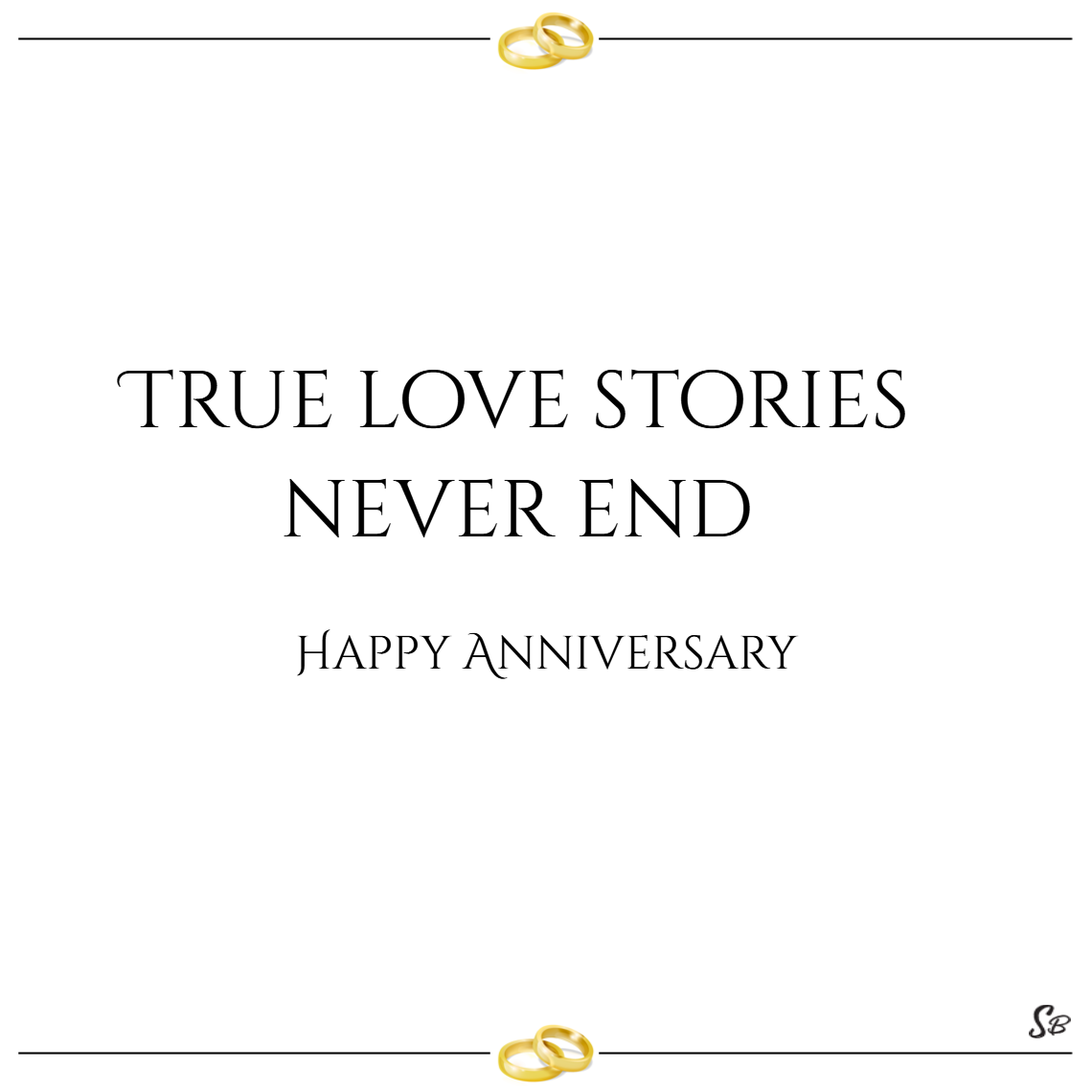 True love stories never end