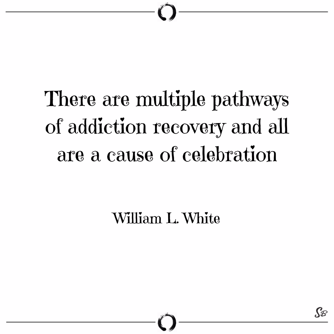 There are multiple pathways of addiction recovery and all are a cause of celebration. – william l. white