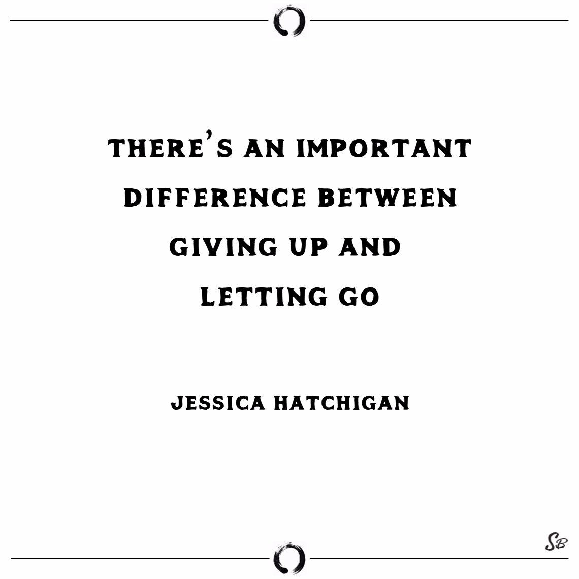 There's an important difference between giving up