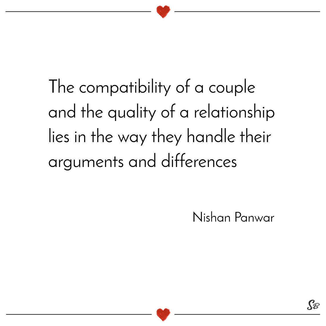 The compatibility of a couple and the quality of a