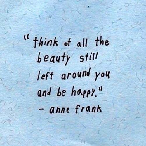 be happy anne frank
