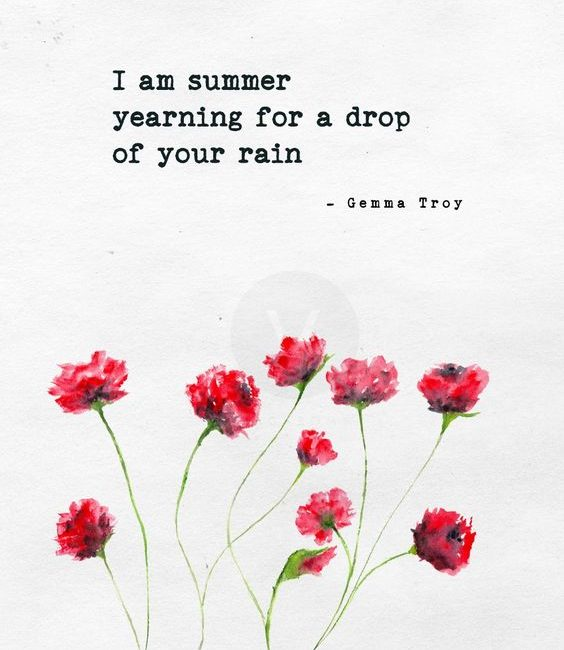 i am summer yearning for a drop of your rain