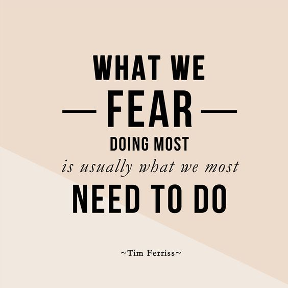 fear we need to do encouragement