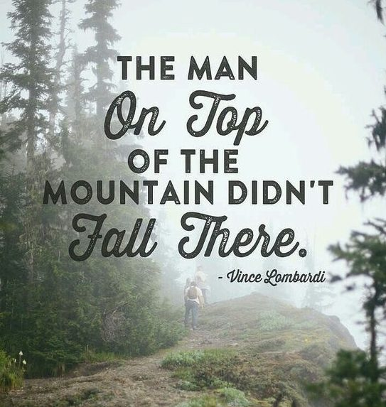 mountain fall there encouragement