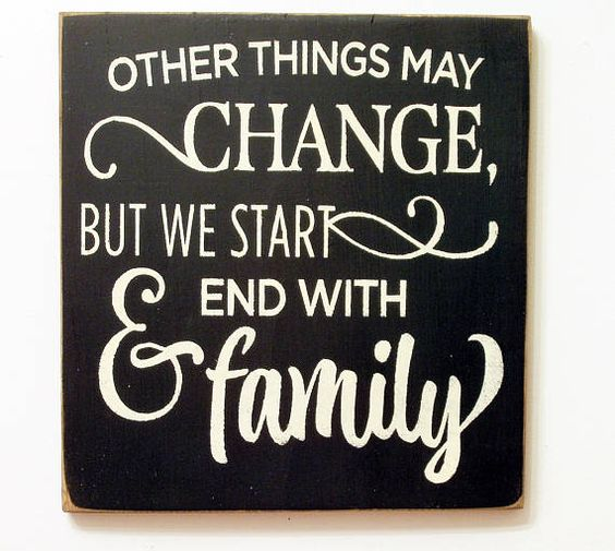 start and end with family
