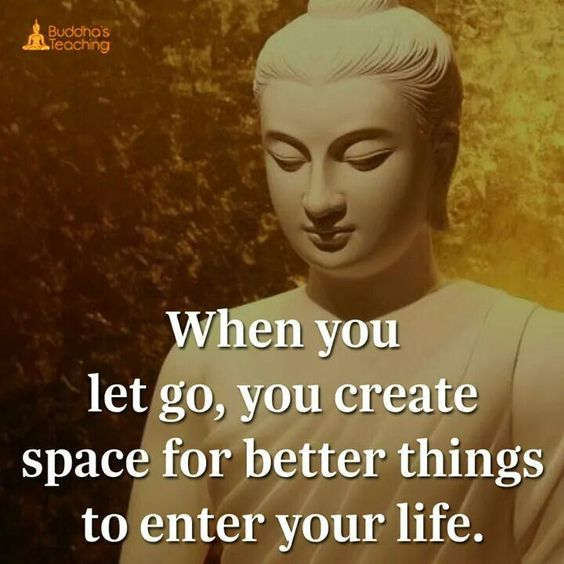 letting go create space
