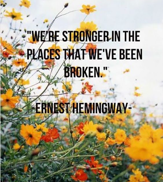 we're strong where we're broken strength quotes