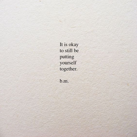 put yourself together depression quotes