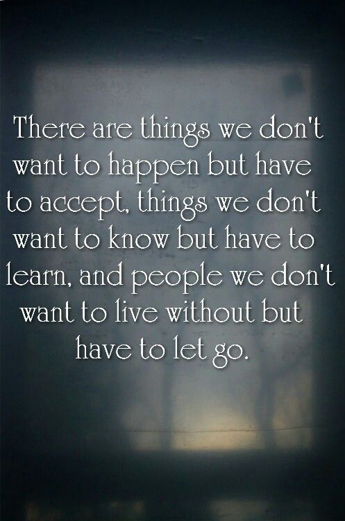 accept things letting go