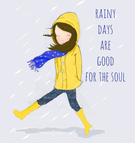 rainy days are good for the soul strong women quotes